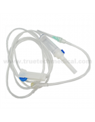 Infusion set with Y injection port